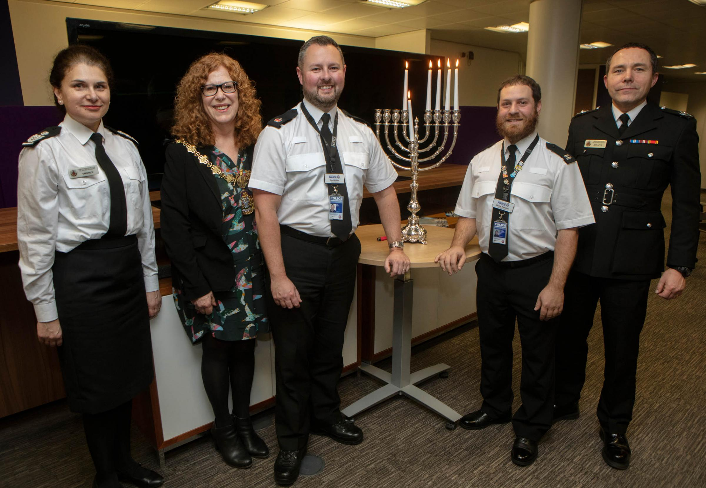 Bury Police Station hosts first ever Hanukkah event