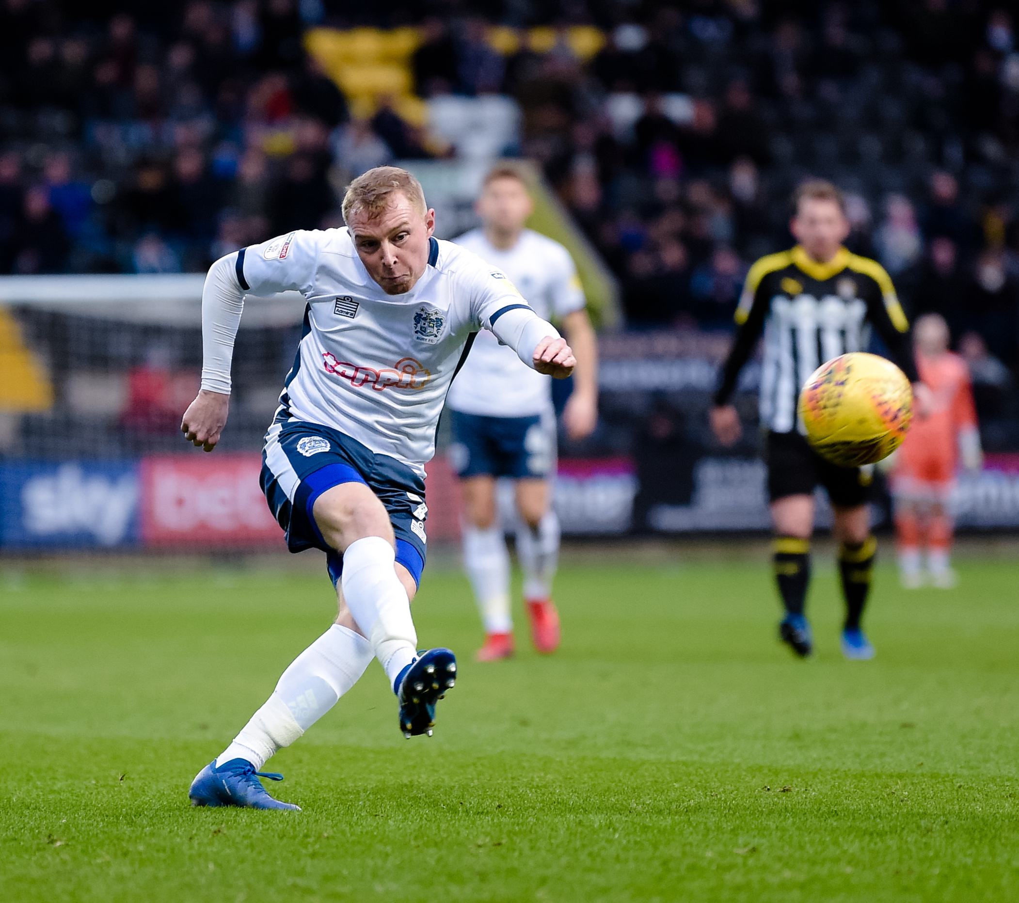 Bury midfielder Nicky Adams during the Sky Bet League 2 match between Notts County and Bury FC at Meadow Lane, Nottingham on Saturday 29th December 2018. Credit: Andy Whitehead...Tel: +44 7746 877546.e-mail: info@andywhiteheadphotography.com.Address: Clif