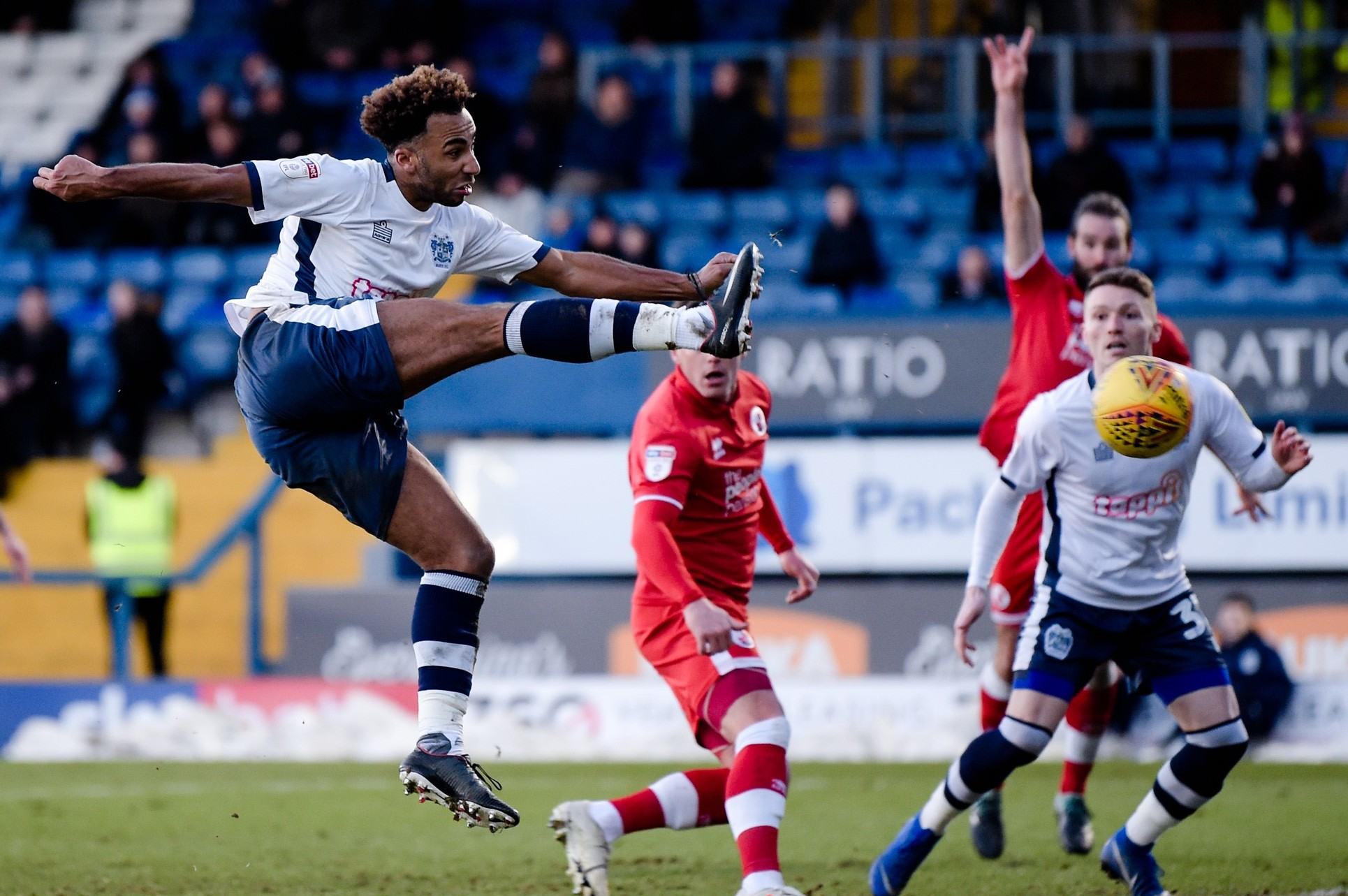 Below-par Bury drop points as Crawley snatch a draw late on
