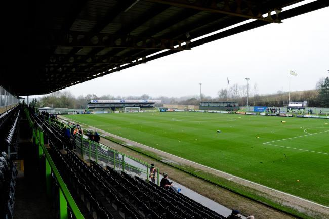 The ground before the Sky Bet League 2 match between Forest Green Rovers and Bury FC at The New Lawn, Nailsworth on Saturday 19th January 2019. Credit: Andy Whitehead