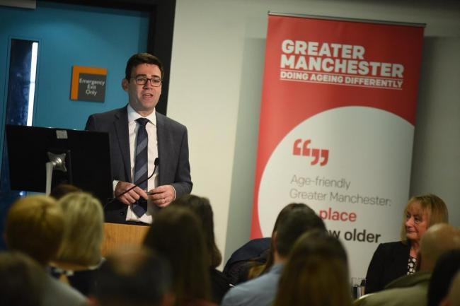 Andy Burnham speaking at the Doing Things Differently conference. Picture: GMCA