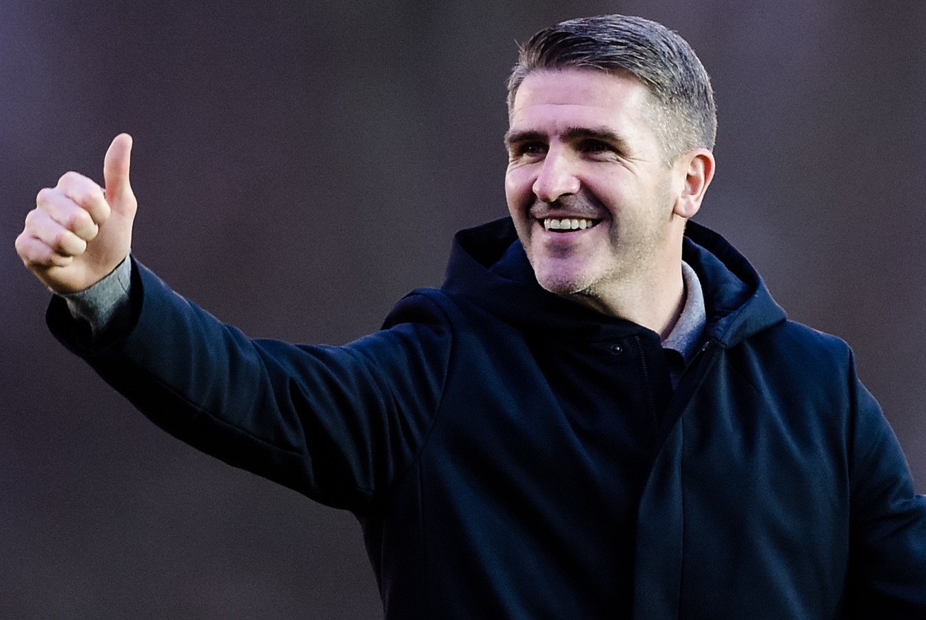 Bury manager Ryan Lowe after the Sky Bet League 2 match between Exeter City and Bury FC at St James' Park, Exeter on Saturday 16th February 2019. Credit: Andy Whitehead..Self-billing applies where appropriate - info@andywhiteheadphotography.com - NO UNPAI