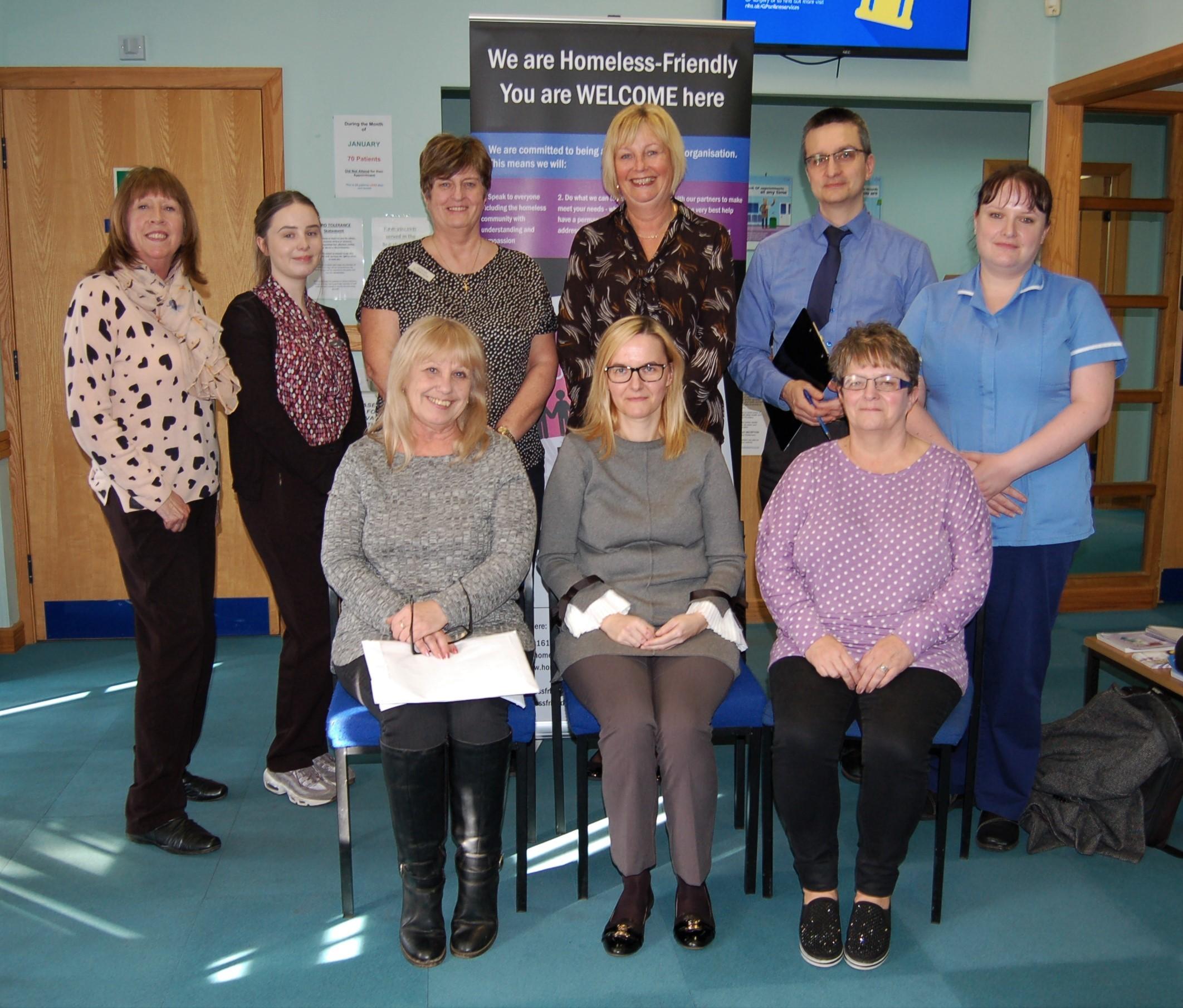 Staff at Birches Medical Centre, Prestwich