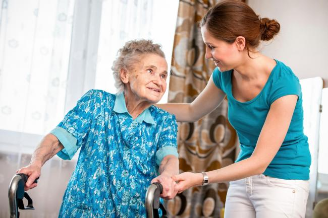 Home care carer STOCK PHOTO.