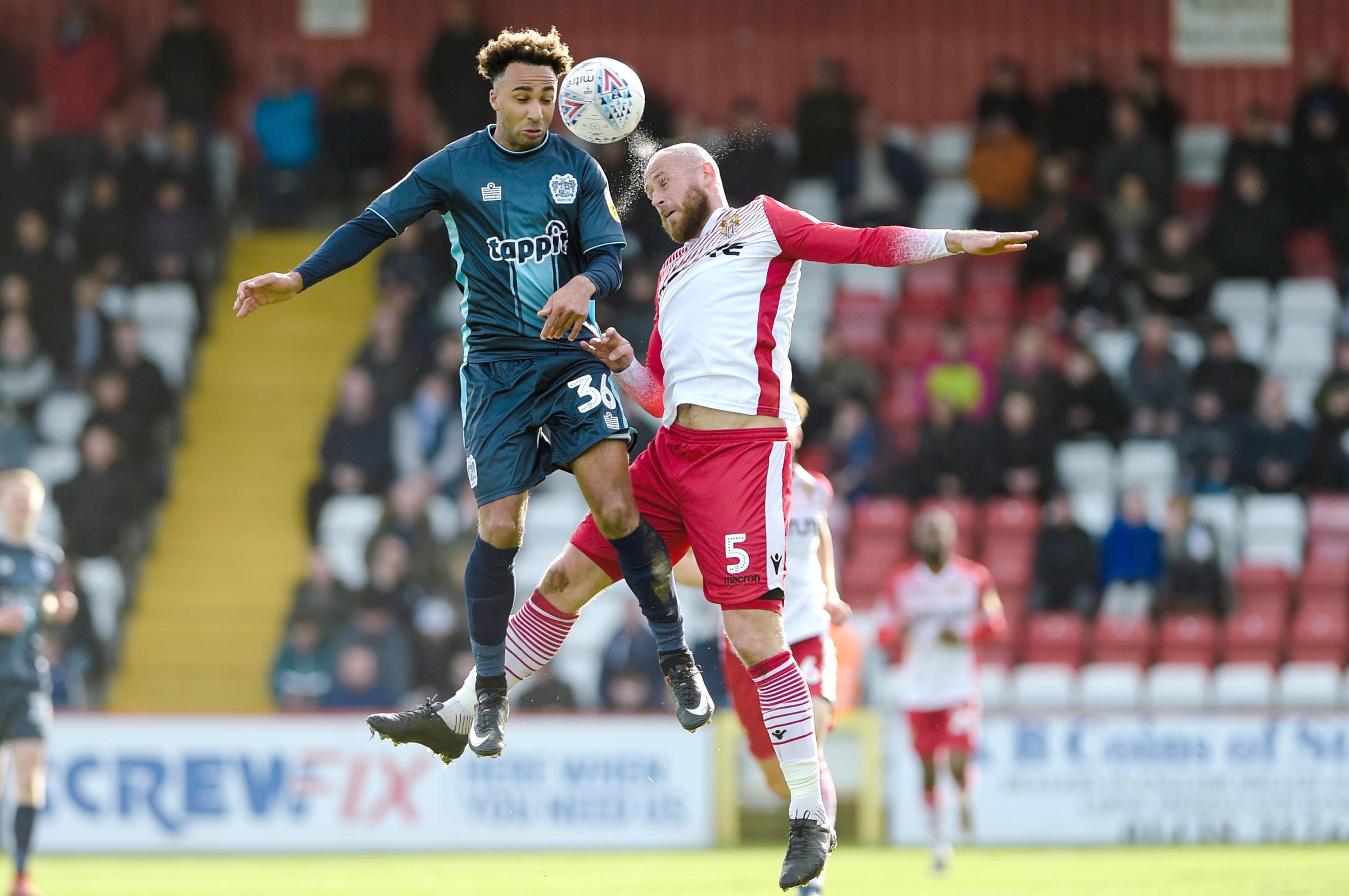 MATCH REPORT AND PLAYER RATINGS: Stevenage 0 Bury 1