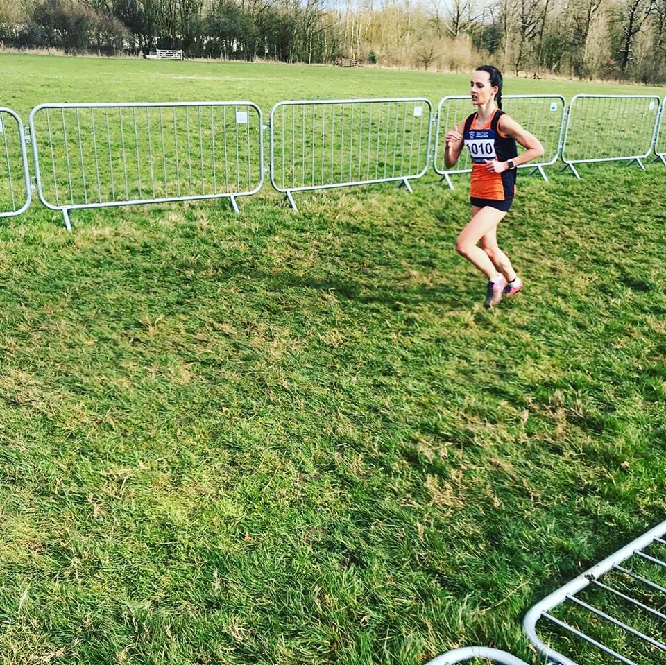 GOOD DISPLAY: Hannah Price competing in the prestigious Inter-Counties Cross-Country Championships