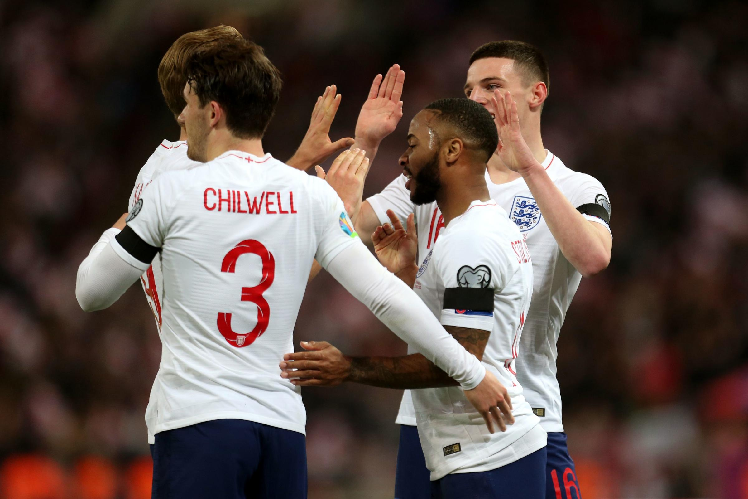 Raheem Sterling, right, took the plaudits in England's win