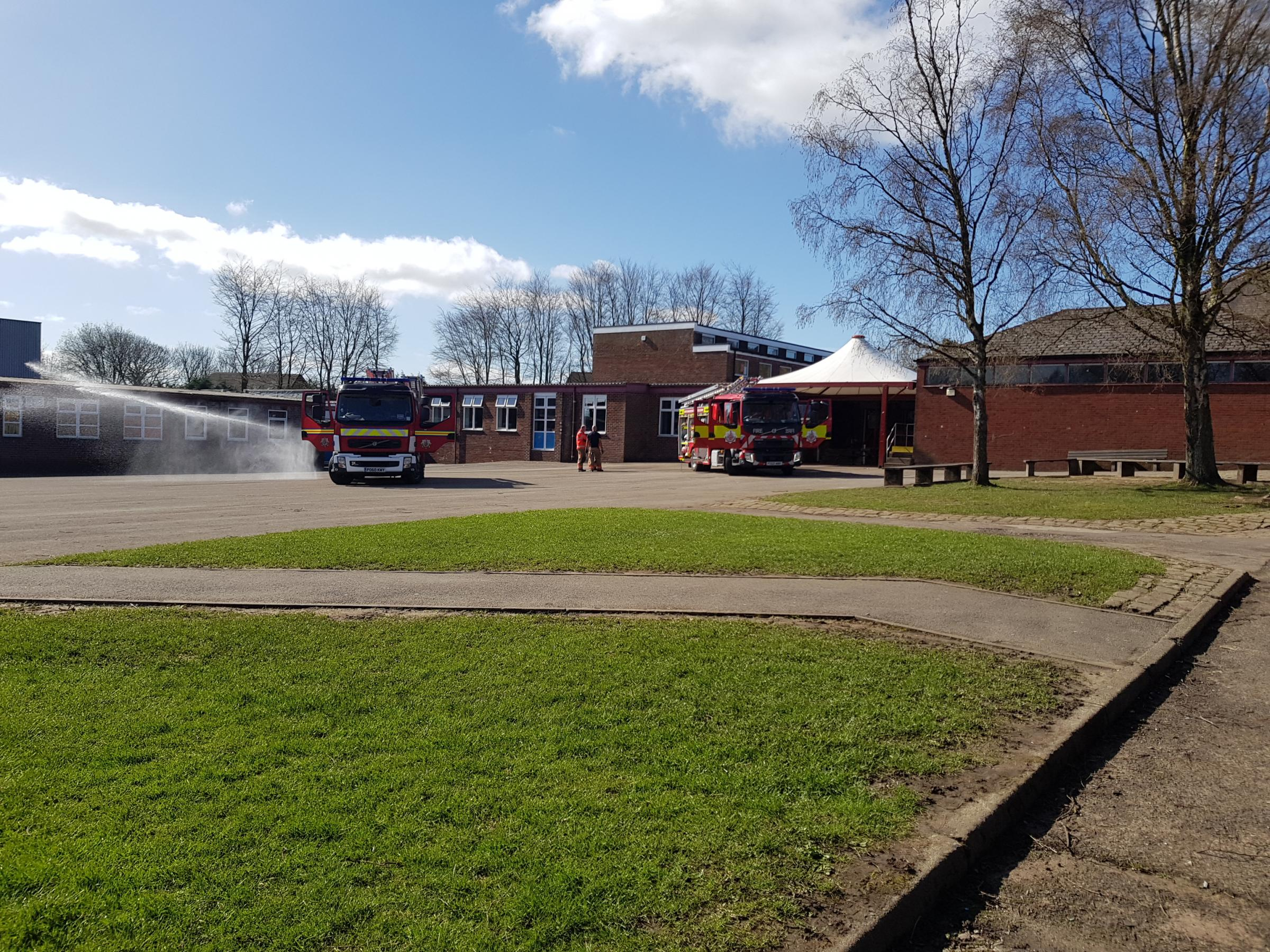Firefighters were called to Tottington High School this morning