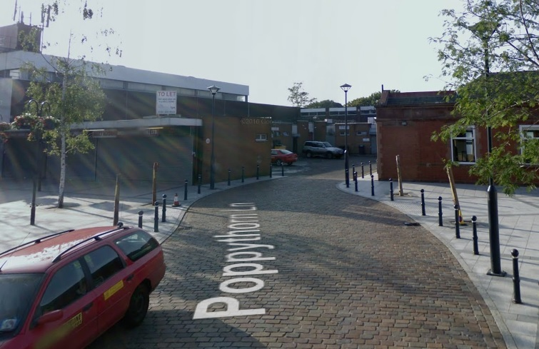 Poppythorn Lane, where a car rammed into a Superdrug store. Google Maps