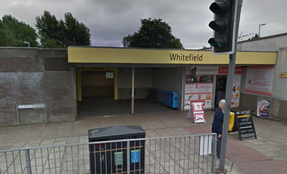 Whitefield Metrolink stop. Photo: Google Maps