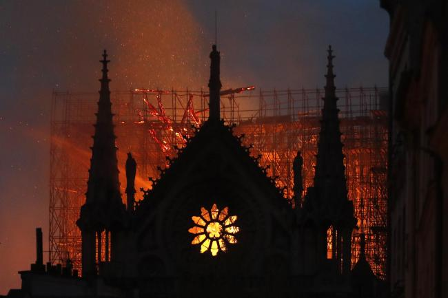 The fire has spread to one of Notre Dame's two towers
