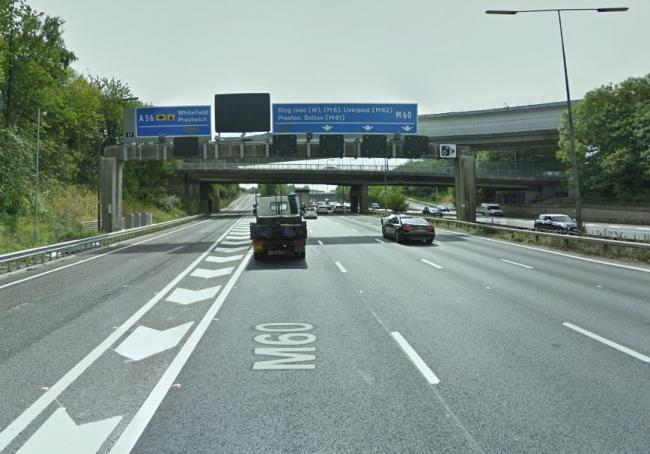 The M60 at Junction 17. Picture, Google Maps