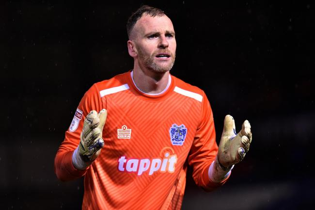 TOP OF THE STOPS: Bury goalkeeper Joe Murphy has been named in the League Two team of the season