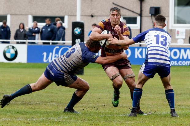 LEADING BY EXAMPLE: Captain Bob Birtwell set up a try for Danny Openshaw