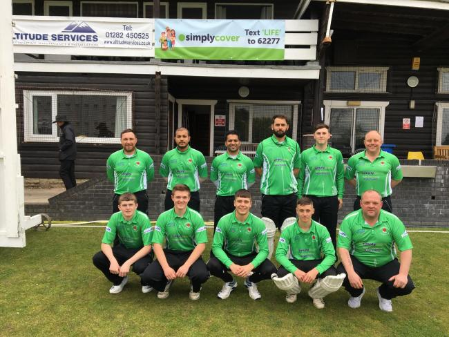 BACK: Greenmount skipper Ryan Senior, back left, before Sunday's match