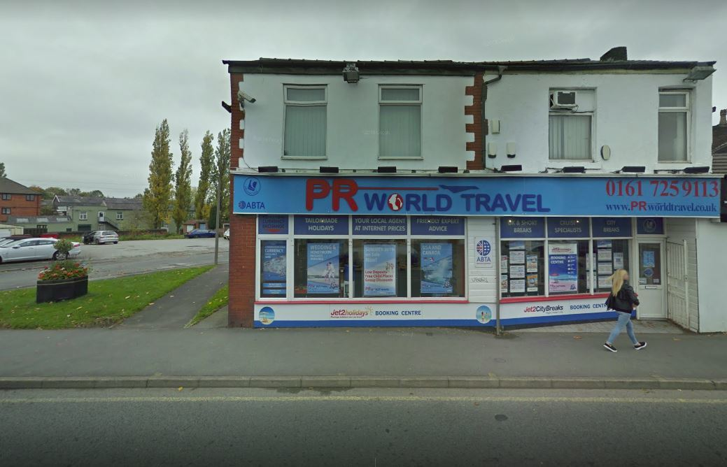 PR World Travel, in Water Street, Radcliffe. Picture, Google Maps