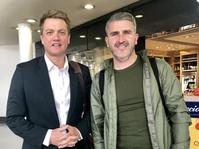 Bury North MP James Frith and Bury FC boss Ryan Lowe