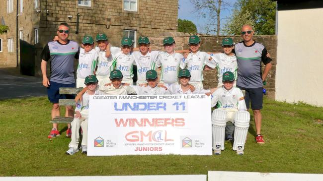 CHAMPIONS: Greenmount Under-11s, back, from left, Leigh Dickinson (head of junior section), Alistair Gunn, Josh Pridgeon, Tom Hulse, Luca Addleton, George Ince, Louis Gibson, Mitch Franklin; front, Ewan Malone, Tom Clarke, Noah Percival, Ossie McMullen, E