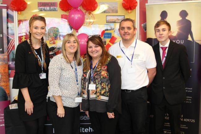 Bury College's Travel Shop is celebrating its first anniversary